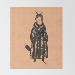 Macklefox Throw Blanket