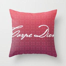 Carpe Diem. Throw Pillow