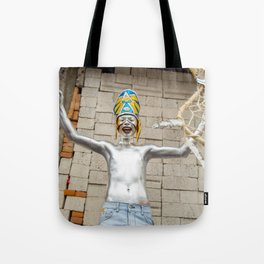 The silver aztec Tote Bag