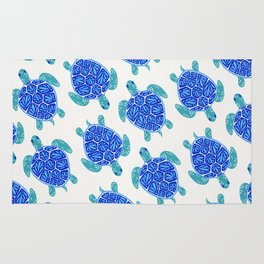 Sea Turtle – Blue Palette Rug
