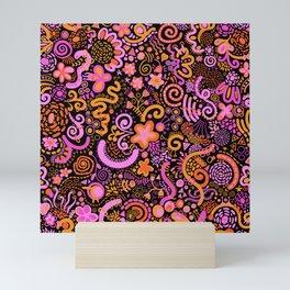 Pink Orange Yellow Zendoodle Mini Art Print