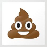 emoji Art Prints featuring Emoji Poo by Emojis on Mugs, Tshirts, Phone Cases & M
