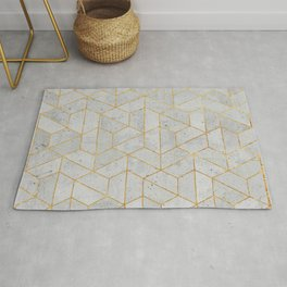 Concrete Hexagonal Pattern Rug