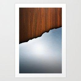 Wooden Brushed Metal Art Print