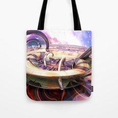 Ocean of Color in Space Tote Bag