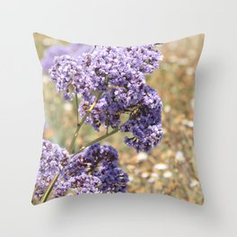 Seafoam Statice Throw Pillow