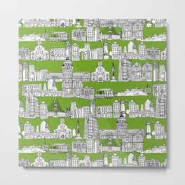 San Francisco green Metal Print