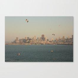 San Francisco Skyline from Alcatraz Island Canvas Print