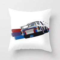 bmw Throw Pillows featuring BMW Art by SABIRO DESIGN