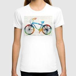 Colorful Bike Art - Free Spirit - By Sharon Cummings T-shirt