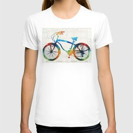 Colorful Bike Art - Free Spirit - By Sharon Cummings T-shirt