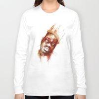 biggie Long Sleeve T-shirts featuring Biggie  by Allison Kunath