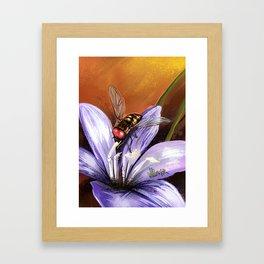 Fly on flower 10 Framed Art Print