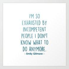 Gilmore Girls, Emily Gilmore Art Print