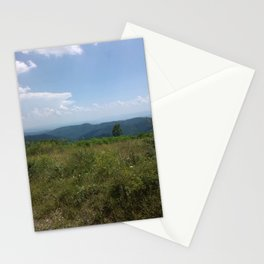Meadow and mountains in the distance Stationery Cards