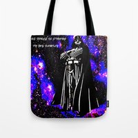 vader Tote Bags featuring Vader  by Saundra Myles