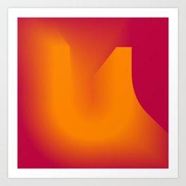 "The "" FADE "" Series - U Art Print"