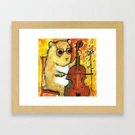 Hamster cellist Framed Art Print
