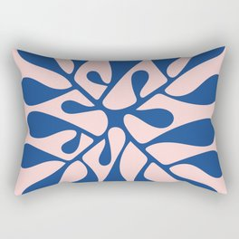 Matisse Inspired Abstract Cut Outs blue Rectangular Pillow
