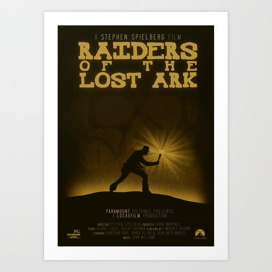 Raiders of the Lost Ark Art Print