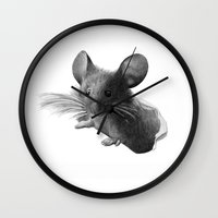 mouse Wall Clocks featuring mouse by Кaterina Кalinich
