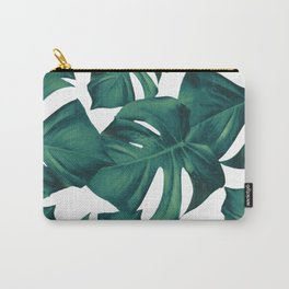 Monstera Leaves Pattern #3 #tropical #decor #art #society6 Carry-All Pouch