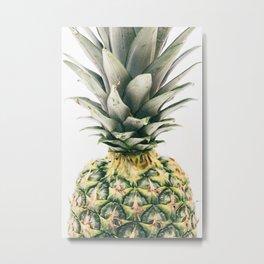 Pineapple Close-Up Metal Print