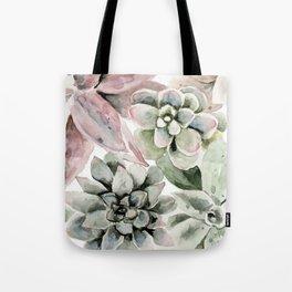 Circular Succulent Watercolor Tote Bag