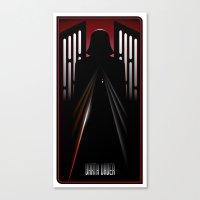 darth vader Canvas Prints featuring Darth Vader by Szoki