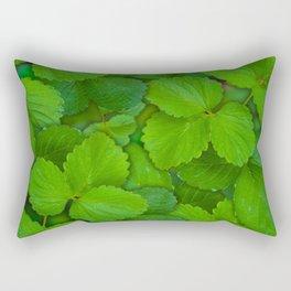 Holy Basil Tulsi Green Mint Leaves Rectangular Pillow