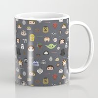 starwars Mugs featuring Starwars pattern by Slambear