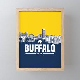 BUFFALO SKYLINE Framed Mini Art Print