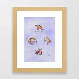 Hedgehog Ballet greeting card by Nicole Janes Framed Art Print