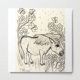Marvelous Miniature Horse Metal Print