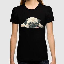 Nap Pug, Dog illustration original painting print T-shirt