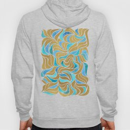 Currents - Gold and blue Hoody