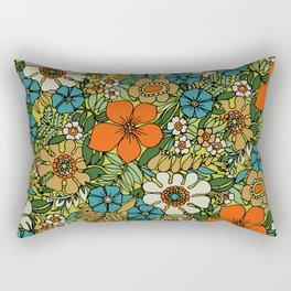 70s Plate Rectangular Pillow