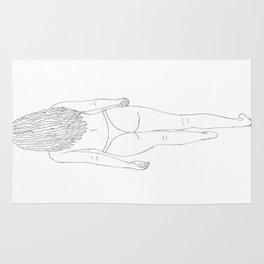 Woman Outline Rug