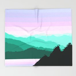 Mountain Landscape Throw Blanket