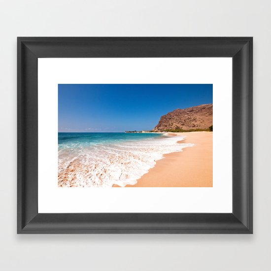 Makaha Beach Framed Art Print