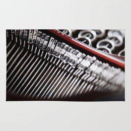 Typewriter Angled Rug