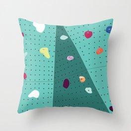 Rock Climbing Wall Throw Pillow