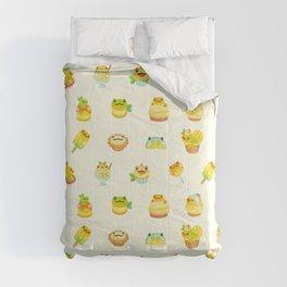 Sweet Lemon frog Comforters
