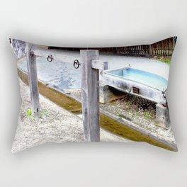 Empty Trough, Overflowing Gutter Rectangular Pillow