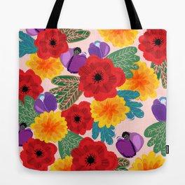 Romance Blooms Tote Bag