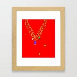 Necklace, bling, gems Framed Art Print