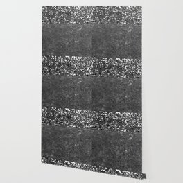 Gray Black Glitter Meets Gray Black Concrete #1 #decor #art #society6 Wallpaper