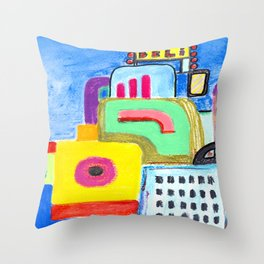 City Lovers Throw Pillow