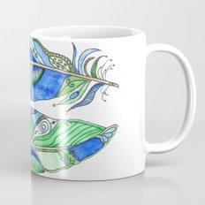 Bohemian Spirit Feathers - Blue & Green Mug