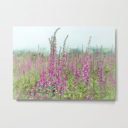 Foxglove Wildflowers Metal Print